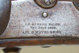CIVIL WAR Antique JAMES MERRILL 1st Type .54 Caliber Percussion CARBINE Issued to NY, PA, NJ, IN, WI, KY & DE Cavalries! - 6 of 21