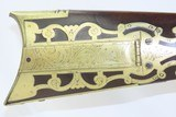 Antique OHIO LONG RIFLE by TEAFF Engraved Half Stock BACK ACTION PercussionAmerican Long Rifle with M.M. Maslin Lock! - 7 of 22