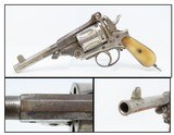 """Antique """"BELGIAN"""" Marked Double Action Top Break .44-40 WCF Cal. REVOLVER Late 19th Century Belgian Revolver with BONE GRIPS! - 9 of 17"""