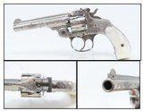 Engraved, NICKEL & PEARL SMITH & WESSON .32 S&W Top Break REVOLVER C&R ENGRAVED Turn of the Century .32 S&W with PEARL GRIPS!