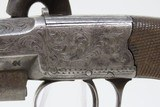 1800s Antique RICHARDSON Sidehammer BOXLOCK .48 Caliber Percussion Pistol British Version of the American Deringer! - 6 of 19