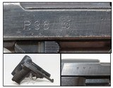 """1943 WORLD WAR 2 WALTHER """"ac/43"""" Code P.38 GERMAN MILITARY Pistol C&R WWII9mm Semi-Auto Pistol from the Third Reich with HOLSTER!"""