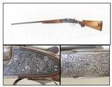 Engraved, Carved PHEASANT Stock FRANCOTTE Sidelock 20 Gauge SxS Shotgun Gorgeous Double Barrel 20 Gauge Shotgun!