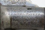 ENGRAVED Antique IMPROVED PATENT LONDON 4-Shot PEPPERBOX Percussion Pistol RARE 1850s 4-Shot Revolver in .36 Caliber - 6 of 17
