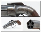 c1850 Antique PEPPERBOX Revolver 5-Shot .30 Caliber Percussion Pistol Early Type of Revolver! Engraved