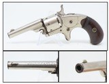 "1874 Antique 7-SHOT COLT ""Open Top"" .22 Short RIMFIRE Pocket REVOLVER NICKEL Colt's Answer to Smith & Wesson's No. 1 Revolver"