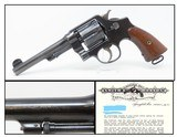 LETTERED WWI US Army SMITH & WESSON Model 1917 .45 ACP Revolver C&R SECOND YEAR PRODUCTION WWI Revolver to Supplement the M1911 - 1 of 20