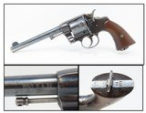1895 Antique US COLT Model 1894 NEW ARMY .38 Long Colt REVOLVER RAC Inspect Spanish-American War Revolver!