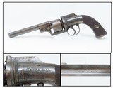 ENGRAVED Antique JAMES HARPER Transitional .44 Caliber PERCUSSION RevolverDouble Action PEPPERBOX to REVOLVER Transitional Firearm!