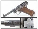 EARLY World War II German MAUSER BANNER 1937 Dated LUGER Pistol C&R ICONIC World War II Third Reich Sidearm!