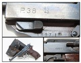 "WORLD WAR 2 Walther ""ac/43"" Code P.38 GERMAN MILITARY Pistol C&R WWII Rig 9mm Pistol from the Third Reich with HOLSTER!"