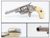 ENGRAVED, IVORIES, LETTERED Antique COLT NEW LINE .22 Rimfire POCKET Revolver HARTLEY & GRAHAM Shipped and ENGRAVED!