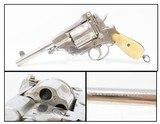 .44-40 WCF TOP BREAK Double Action REVOLVER European Antique Nickel & Bone Late 19th Century Belgian Revolver with BONE GRIPS! - 1 of 21