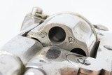 .44-40 WCF TOP BREAK Double Action REVOLVER European Antique Nickel & Bone Late 19th Century Belgian Revolver with BONE GRIPS! - 12 of 21
