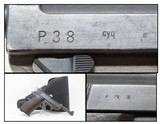 WORLD WAR II Nazi German SPREEWERKE cyq Code P.38 Pistol Bringback WW2 C&R British Proofed, Likely Brit Bringback