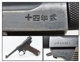 WWII Imperial Japanese Type 14 NAMBU Pistol NAGOYA 8mm Axis WW2 C&R World War II Pacific Theater Sidearm!