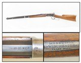 """1907 WINCHESTER Model 1892 .25-20 WCF Lever Action REPEATING RIFLE C&R Octagonal 24"""" Barrel, Full-Length Made in 1907!"""