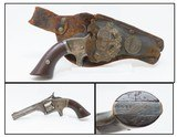 NEAT PERIOD HOLSTERED SMITH & WESSON No. 1 Second Issue REVOLVER Antique Small 7-Shot .22 Rimfire Revolver! - 1 of 20