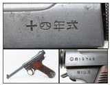 WWII Imperial JAPANESE KOKUBUNJI Type 14 NAMBU Semi-Automatic C&R PistolWorld War II Pacific Theater Sidearm!
