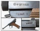 1944 WW II Imperial Japanese NAGOYA Type 14 NAMBU Semi-Automatic Pistol C&R World War II Pacific Theater Sidearm!