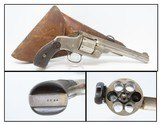 .44 Russian AUSSIE Contract SMITH & WESSON New Model No. 3 Revolver Antique With Australian Leather Flap Holster!