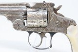 ENGRAVED, MOTHER of PEARL Antique SMITH & WESSON .38 S&W TOP BREAK Revolver SONGBIRD Motif w PEARL GRIPS! - 4 of 18