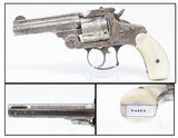 ENGRAVED, MOTHER of PEARL Antique SMITH & WESSON .38 S&W TOP BREAK Revolver SONGBIRD Motif w PEARL GRIPS! - 1 of 18
