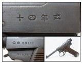 1943 WWII Imperial Japanese TOKYO Type 14 NAMBU Pistol 8x22mm 14.10 C&R World War II Axis Pacific Theater Sidearm!