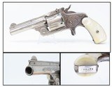 ENGRAVED, Nickel, PEARL Antique S&W .38 Single Action REVOLVER 5-Shot .38 Smith & Wesson Sidearm