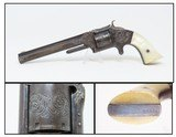 "BEAUTIFULLY ENGRAVED, PEARL c1866 S&W No. 2 ""OLD ARMY"" .32 Rimfire Revolver Customized Post-Civil War 6-Shooter"