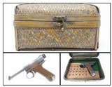 1943 WWII Trophy Imperial Japanese NAGOYA Type 14 NAMBU 8x22mm Pistol C&RPacific Theater AXIS Sidearm in Reed Basket Case!