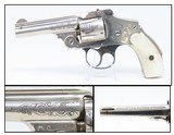 Engraved MOTHER of PEARL Grip SMITH & WESSON .38 SAFETY HAMMERLESS Revolver TURN OF THE CENTURY Top Break Smith & Wesson!