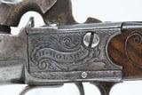 BRACE of DUBLIN, IRISH Antique H. HOLMES Percussion BOXLOCK Belt Pistols CLASSY Pair of Pistols from IRELAND! - 7 of 25