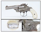 Antique SMITH & WESSON .38 S&W Double Action TOP BREAK Revolver With FULL COVERAGE Floral Engraving & PEARL GRIPS!