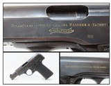 WORLD WAR I Rare FIRST VARIENT WALTHER Model 4 7.65mm Semi-Auto Pistol C&RTRENCH WARFARE Pistol Made Circa 1915