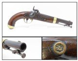 """ARTILLERY """"Eagle/A"""" 1849 HENRY ASTON Model 1842 .54 Caliber DRAGOONS PistolMade Just After the Mexican-American War in 1849"""
