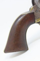 Antebellum COLT Model 1851 NAVY .36 Caliber PERCUSSION Revolver Antique 1856 Production with Initials & Lots of Holster Wear - 18 of 20