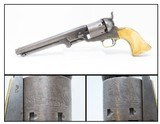 FANTASTIC 3rd Model COLT Model 1851 NAVY .36 Caliber Revolver Antique IVORY MADE in 1853 with ANTIQUE IVORY GRIPS!