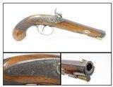 1850s HANOVER German .48 Caliber Percussion Pistol by LÖFFLER Antique Engraved, Single Set Trigger, Octagonal Barrel - 1 of 18