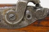 1850s HANOVER German .48 Caliber Percussion Pistol by LÖFFLER Antique Engraved, Single Set Trigger, Octagonal Barrel - 7 of 18