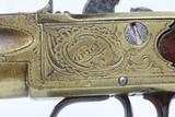 Grotesque Mask WILLIAM GRICE of LONDON Brass .60 Caliber FLINTLOCK PistolCirca Late-1700s Sidearm Belt Sized Pistol - 6 of 19