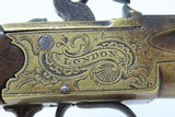 Grotesque Mask WILLIAM GRICE of LONDON Brass .60 Caliber FLINTLOCK PistolCirca Late-1700s Sidearm Belt Sized Pistol - 15 of 19