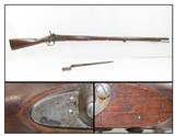 Antique US REMINGTON/FRANKFORD Arsenal MAYNARD M1816/1856 MUSKET Conversion New Jersey Marked Musket with BAYONET - 1 of 23