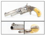 NICKEL & IVORY Antique SMITH & WESSON No. 1 1/2 .32 SINGLE ACTION REVOLVER SW Handsome Little Hideout Revolver!