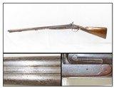 Antique J.S. TROWBRIDGE & Co. Percussion SxS Double Barrel HAMMER ShotgunEngraved ENGLISH Double Barrel Fowling Gun - 1 of 21