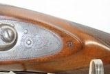 Antique J.S. TROWBRIDGE & Co. Percussion SxS Double Barrel HAMMER ShotgunEngraved ENGLISH Double Barrel Fowling Gun - 7 of 21