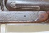 Antique J.S. TROWBRIDGE & Co. Percussion SxS Double Barrel HAMMER ShotgunEngraved ENGLISH Double Barrel Fowling Gun - 14 of 21