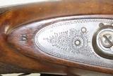 Antique J.S. TROWBRIDGE & Co. Percussion SxS Double Barrel HAMMER ShotgunEngraved ENGLISH Double Barrel Fowling Gun - 15 of 21