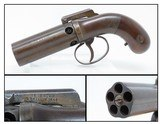 Antique ALLEN & WHEELOCK .32 Cal. POCKET SIZED Percussion PEPPERBOX Pistol5-Shot Pepperbox That Enjoyed More Popularity Than Colt!