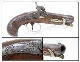 ENGRAVED Antique HENRY DERINGER c. 1850s .44 CALIBER Percussion BELT Pistol Henry Deringer's Famous Pocket/Belt Pistol - 1 of 17
